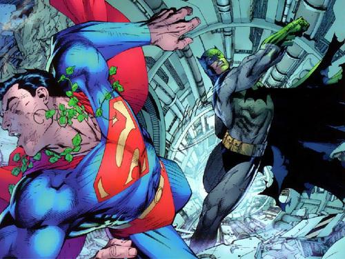 Batman, giving Superman a hang-over